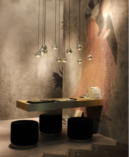 Kubric SO Cluster of 10: Suspension lamp in different finishings