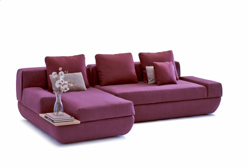 Marie: Sofa upholstered in different materials