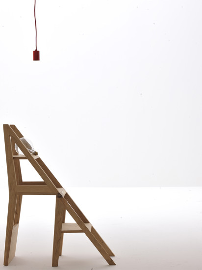 Scala Zero Chair: Chair convertible to step ladder
