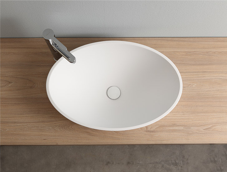 Dukas: Semi-recessed washbasin in different finishings