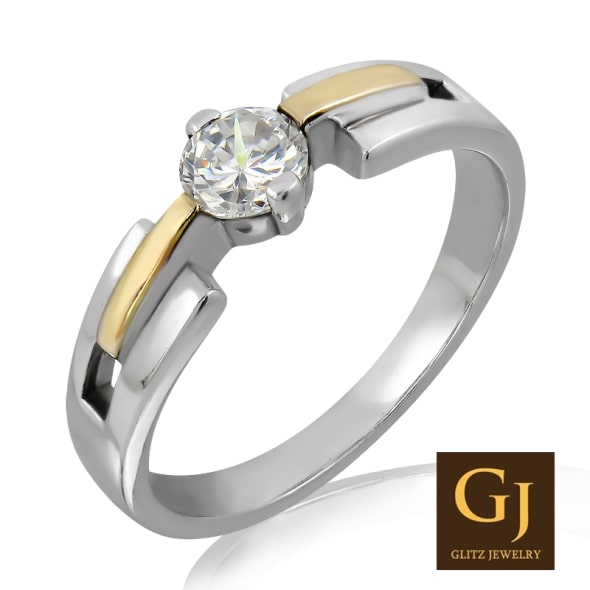 18K Gold and 0.25 Carat E Color VS Clarity Diamond Ring