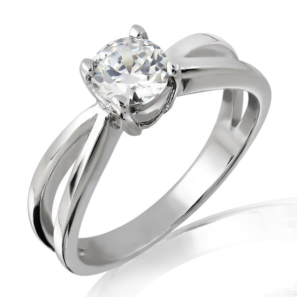 แหวนทอง 18K ประดับเพชร น้ำหนักรวม 1.06 กะรัต ค่าสี I ค่าความสะอาด VVS1 EX/EX/EX เพชรมาพร้อมใบรับรองจากสถาบัน GIA