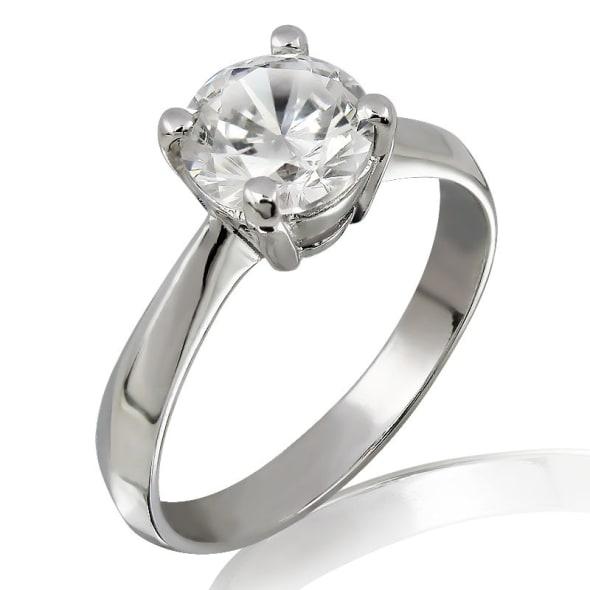 แหวนทอง 18K ประดับเพชร น้ำหนักรวม 1.00 กะรัต ค่าสี G (น้ำ 97) ค่าความสะอาด VS1 EX/EX/EX เพชรมาพร้อมใบรับรองจาก IGI