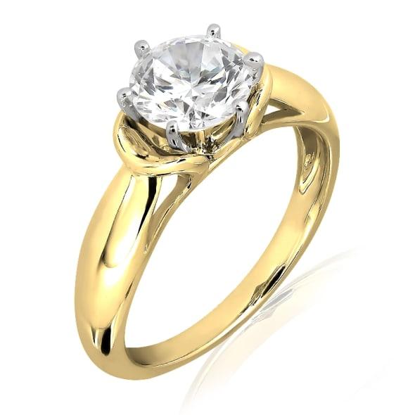 แหวนทอง 18K ประดับเพชร น้ำหนักรวม 0.30 กะรัต ค่าสี F ค่าความสะอาด VVS1 EX/EX/EX เพชรมาพร้อมใบรับรองจากสถาบัน GIA