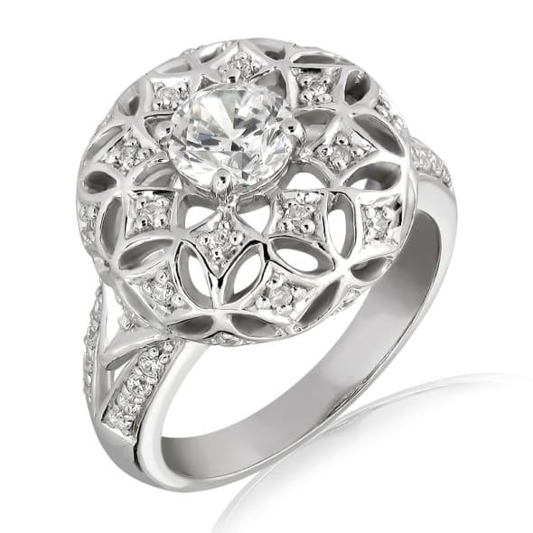 แหวนทอง 18K ประดับเพชร น้ำหนักรวม 0.80 กะรัต ค่าสี F ค่าความสะอาด VS2 เพชรมาพร้อมใบรับรองจากสถาบัน GIA