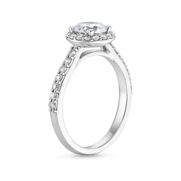 แหวนทอง 18K ประดับเพชร น้ำหนักรวม 0.80 กะรัต ค่าสี D ค่าความสะอาด VVS1 EX/EX/EX None  เพชรมาพร้อมใบรับรองจาก GIA