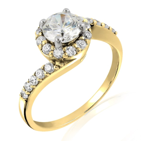18K Gold and 0.75 Carat D Color VS1 Clarity EX/EX/EX GIA Certified Diamond Ring