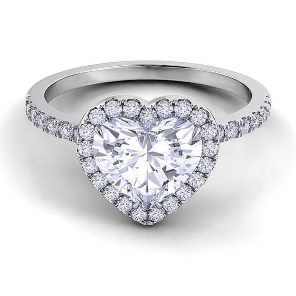 แหวนทอง 18K ประดับเพชร น้ำหนักรวม 1.50 กะรัต ค่าสี I ค่าความสะอาด VS2 เพชรมาพร้อมใบรับรองจาก GIA