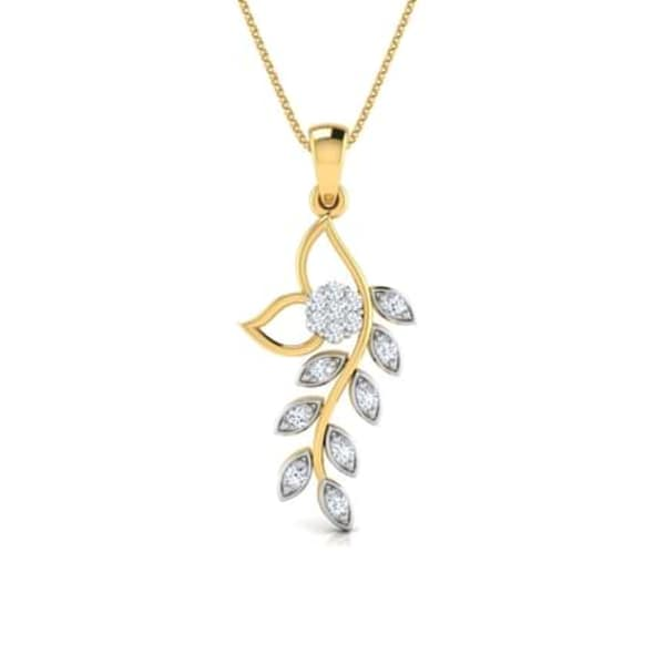 18K Gold and 0.10 carat Diamond Pendant