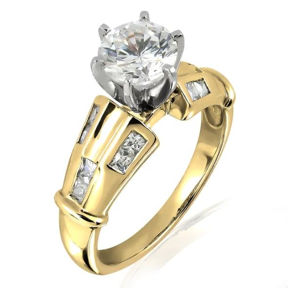 แหวนทอง 18K ประดับเพชร น้ำหนักรวม 0.69 กะรัต ค่าสี G ค่าความสะอาด VS