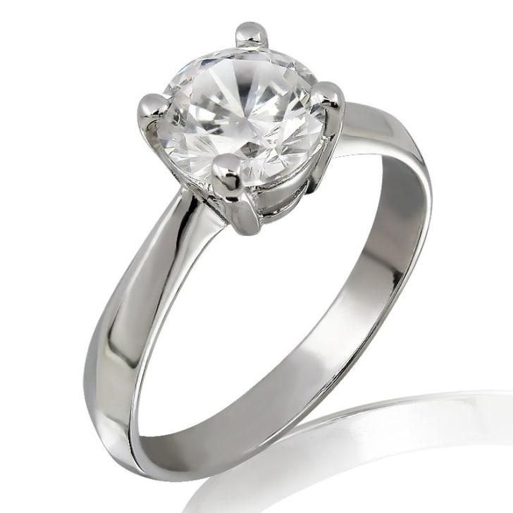 แหวนทอง 18K ประดับเพชร น้ำหนักรวม 1.00 กะรัต ค่าสี G ค่าความสะอาด VVS2 EX/EX/EX เพชรมาพร้อมใบรับรองจากสถาบัน GIA