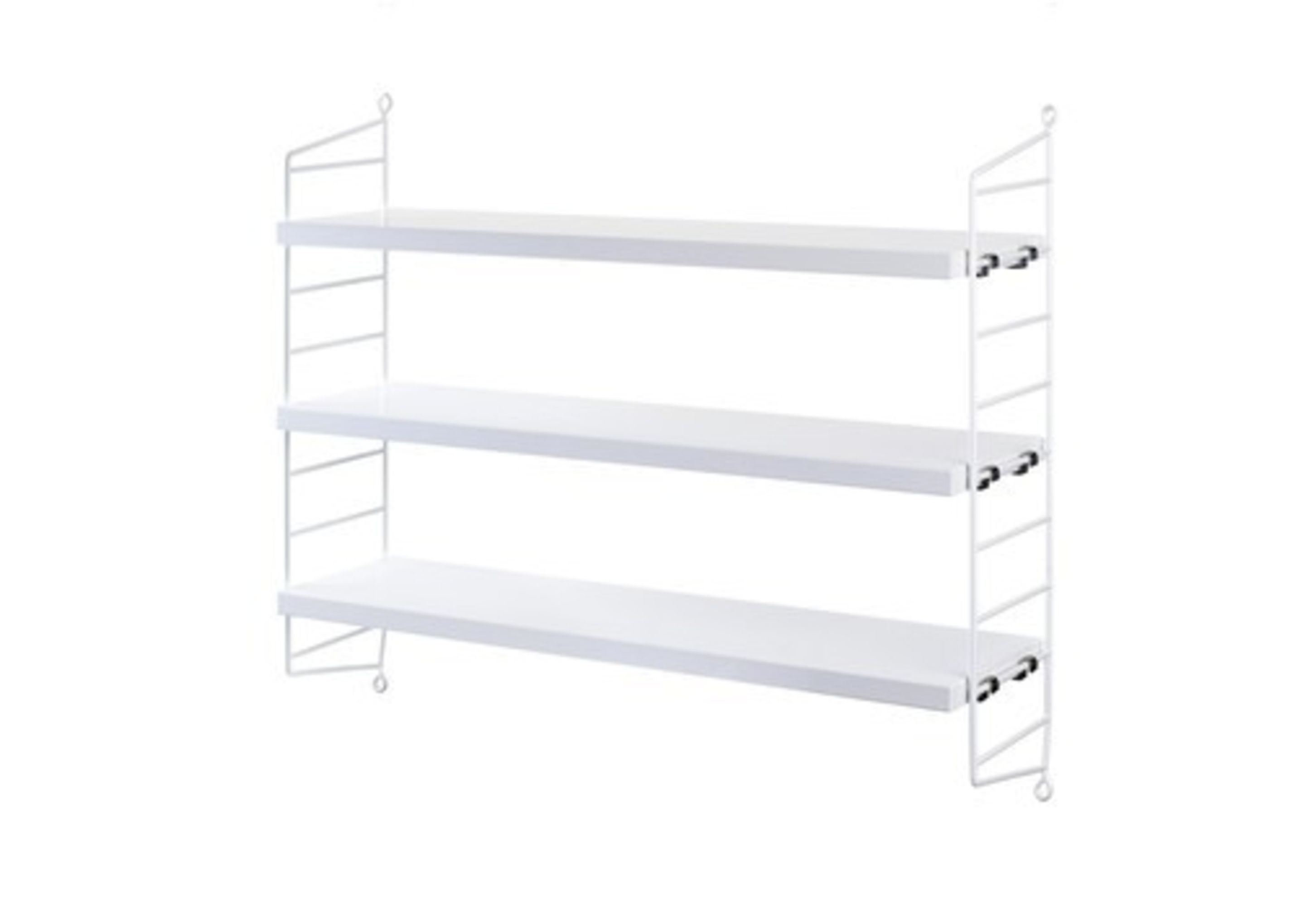 Wall To Wall Shelves string pocket wall shelf - white