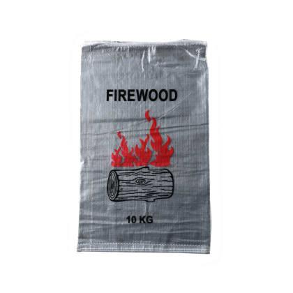 Woven Polypropylene - 100 Printed Transparent Firewood Bags - 45 CM X 75 CM