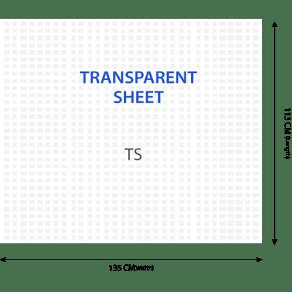 Transparent Woven Polypropylene Sheet - 113 x 135 CM - Pack of 1000