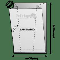 Woven Polypropylene - Laminated Feed Bag - (38 CM + 12 CM) x 86 CM