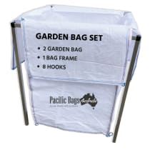 Garden Bag Full Set - 1 Aluminium Frame + 2 Garden Bag + 8 Hooks