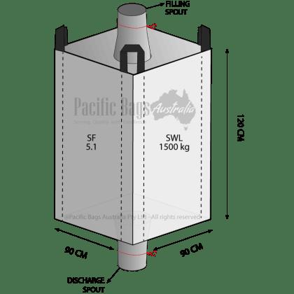 1.5 Tonne - Spout Top Spout Bottom - Bulk Bag