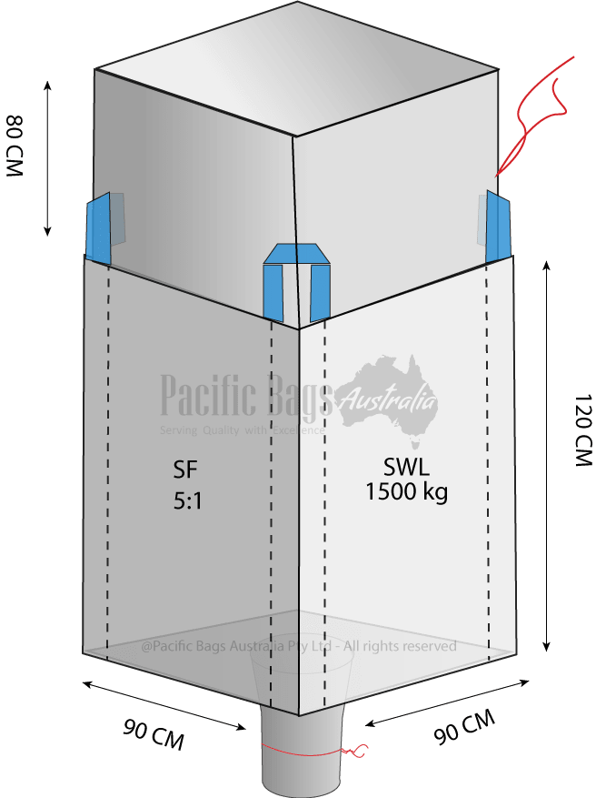 1.5 Tonne - Duffle Top Spout Bottom Bulk Bag