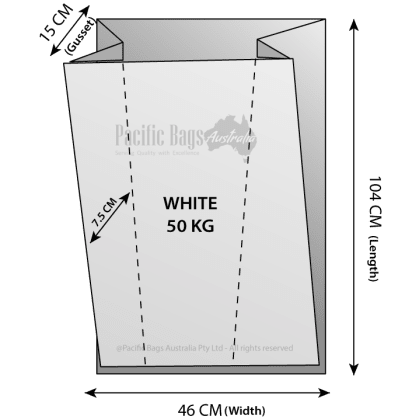Woven Polypropylene - Gusseted Bag - (46 CM + 15 CM) x 104 CM