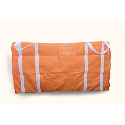 3 Cubic 1500 kg - Orange Woven Polypropylene Skip Bag - 1.5 (W) x 2.0(L) x 1(H) M