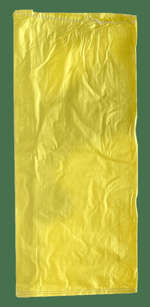 Woven Polypropylene - Yellow Feed Bag - (38 CM +12 CM) x 86 CM