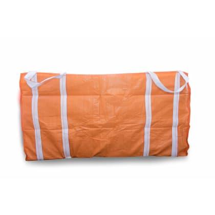 2 Cubic 400 KG - Orange Woven Polypropylene Skip Bag - 1.0(W) X 2.0(L) X 1(H) M