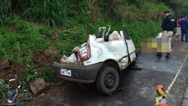 Motorista de carro e piloto de moto morrem em acidente que deixou ainda dois feridos graves no Oeste