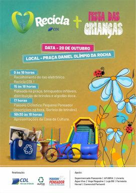 Recicla CDL Herval promove conscientização ambiental e ações ao Dia das Crianças
