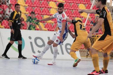 Joaçaba Futsal perde a primeira partida das oitavas de final da Liga Nacional de Futsal