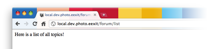 Module-Silex-Forum