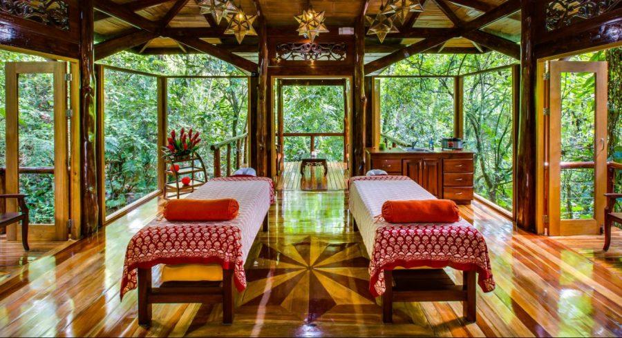 Massage room at Nayara Springs Hotel in Arenal, Costa Rica