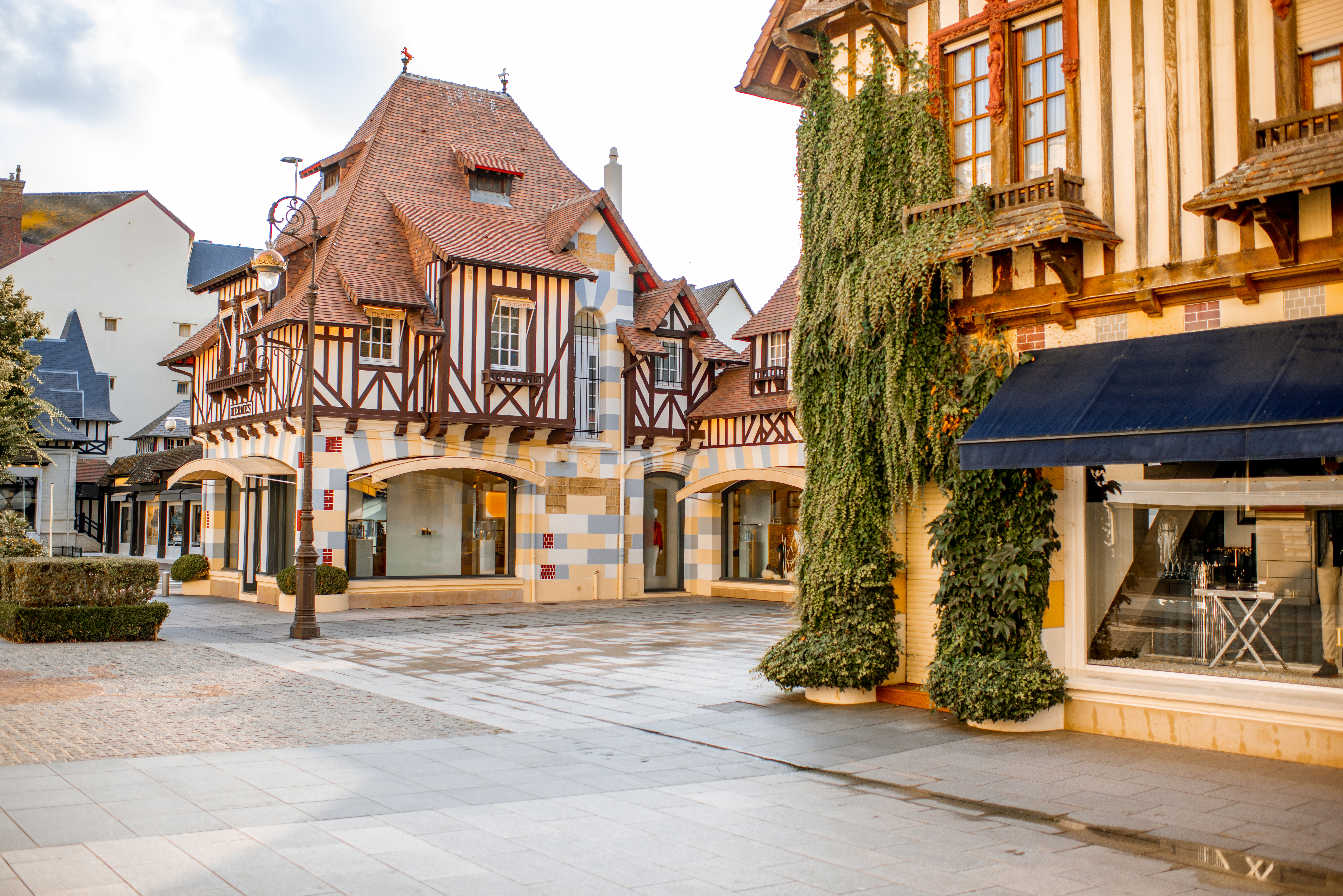 Deauville, a French seaside town in Normandy