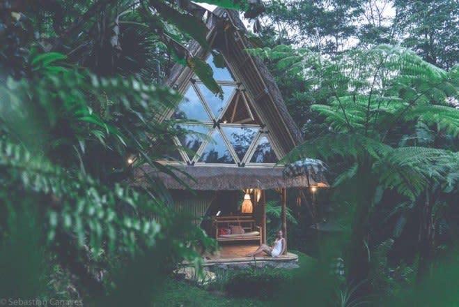 Bambushütte auf Bali Indonesien