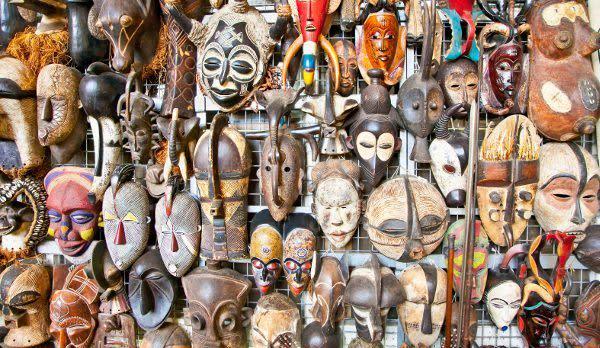 A mask shop in Masai Mara