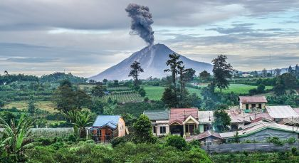 Berastagi in Indonesien