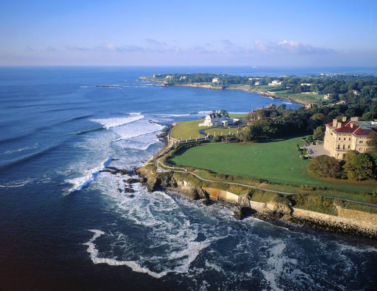 Rhode Island Coast with Newport Mansions