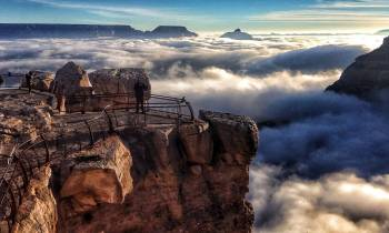 Clouds rolling in through the canyon