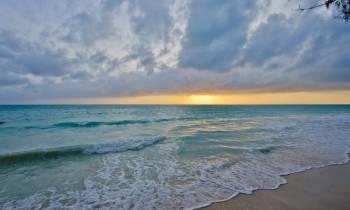 Beach sunrise at Bluebay Beach, Zanzibar