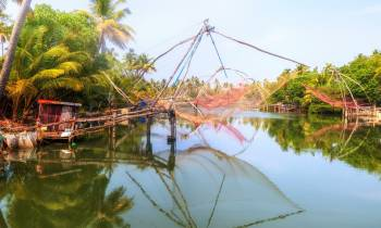 Chinese fishing nets in Cochin India
