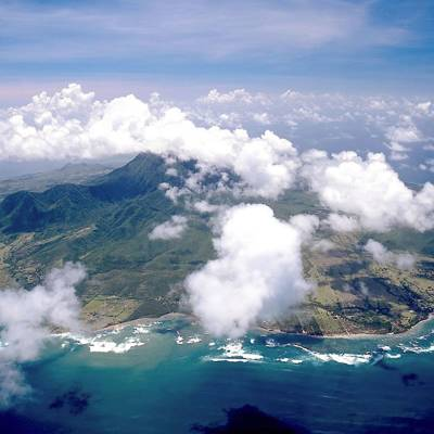 Aerial view of Nevis