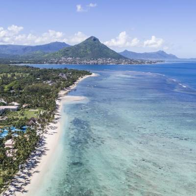 Aerial View of Sugar Beach in Mauritius