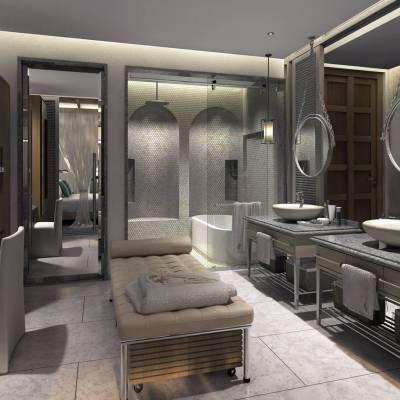 Pearl room bathroom