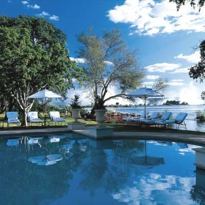 Pool overlooking the Zambezi