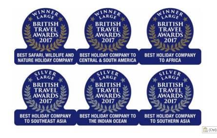 British Travel Awards, Hayes & Jarvis, 2017