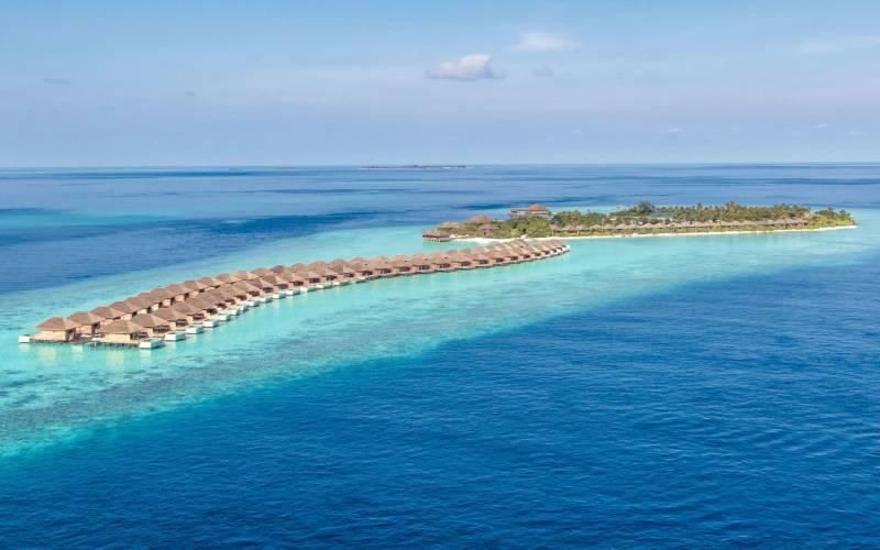 Maldives Island aerial shot