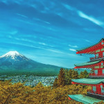 Der Mount Fuji in Japan