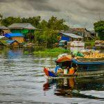 Enchanting Travel Cambodia Tours Battambang Water villages,Tonle Sap is the largest lake in SE Asia