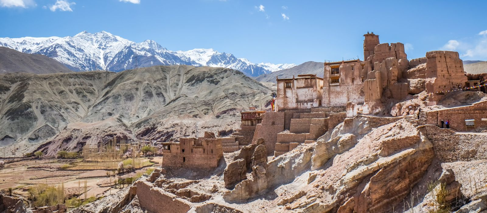 Basgo Gompa or The Crying skull near Alchi monastery and Likir Gompa inLeh Ladakh , Jammu and Kashmir India