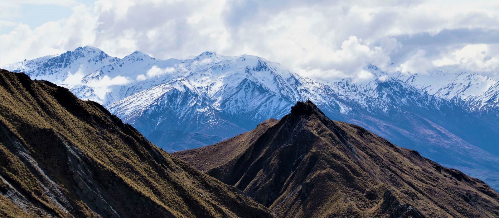 Landscapes New Zealand Mountains Snow capped mountains Roys