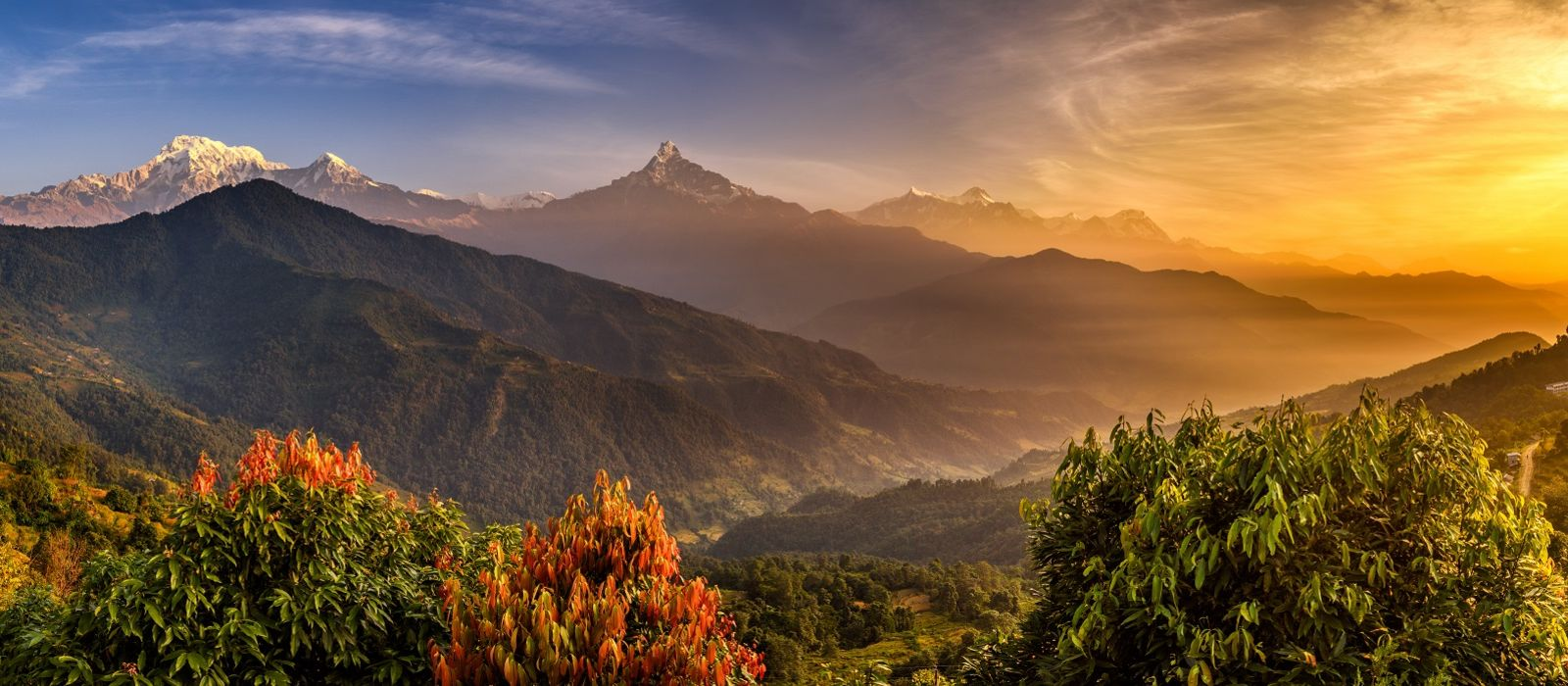 Annapurna Himalayas near Pokhara in Nepal Holiday